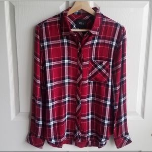 Rails Cranberry Plaid Hunter Shirt Top Size Small